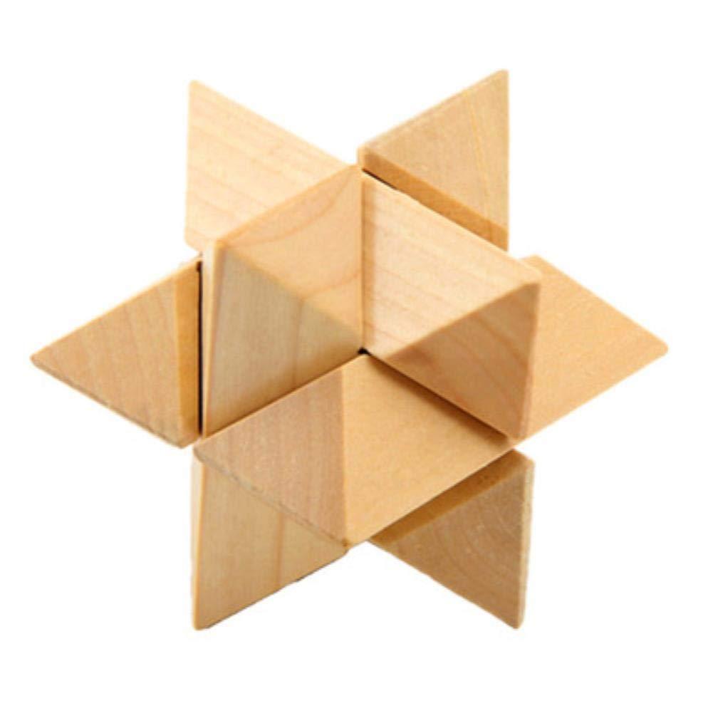 MAGIC-F Design Iq 頭の体操 木製玩具 3Dビルディングブロック おもちゃ コング ミング ロック インターロッキング 子供用 One Size ブルー  ブルー B07Q4V77C3