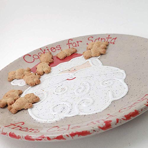 Cookies for Santa Plate Personalized Santa Claus Ceramic Christmas Eve Cookie Dish Set