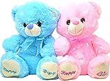 BARGAINS GALORE 27CM BABY BOY GIRL BIRTH NEW BORN COSY PLUSH TOY SOFT KIDS CUDDLY TEDDY BEAR GIFT (PINK)
