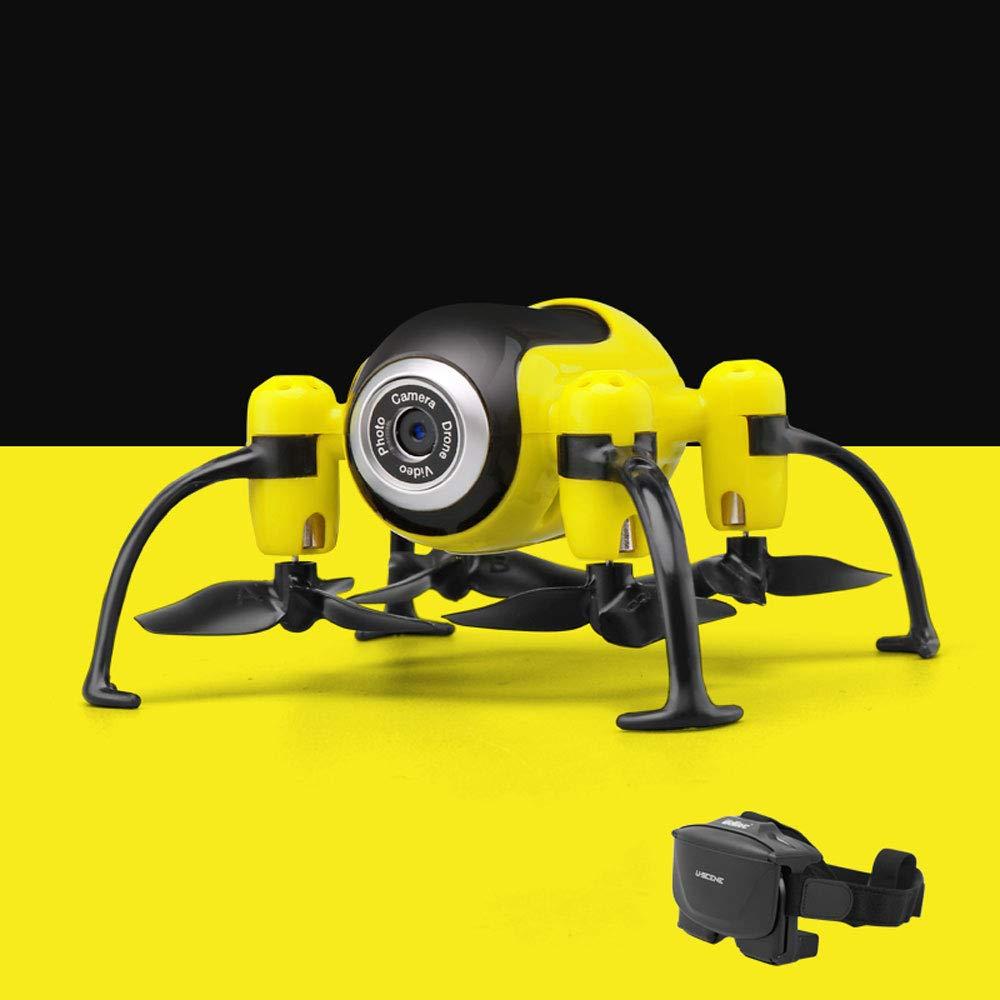 Mogicry Mini Headless RC Widerstand zu Fallen HD Antenne Fotografie 200W Pixel Aufladen Professionelle Drohne mit Stunt Höhe für Anfänger Fernbedienung Flugzeug blau gelb grün Geburtstagsgeschenk