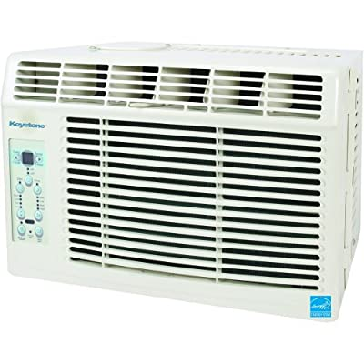 "Keystone KSTAW06A 6,000 BTU 115-Volt Window-Mounted Air Conditioner with ""Follow Me"" LCD Remote Control"