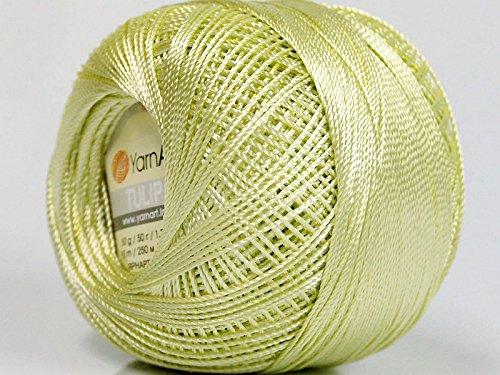 Yarn Art Tulip Size 10 Microfiber Thread 50 Gram Celery Green