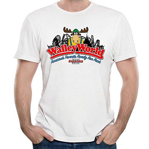 (Wally Fun World Mens Cool Short Sleeve Shirt Cotton T-Shirt White)