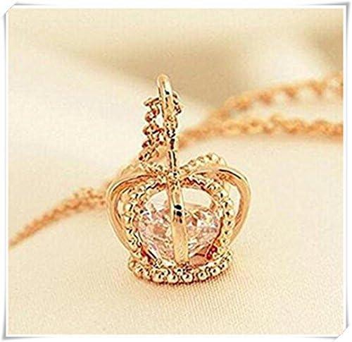 金の王冠ネックレス