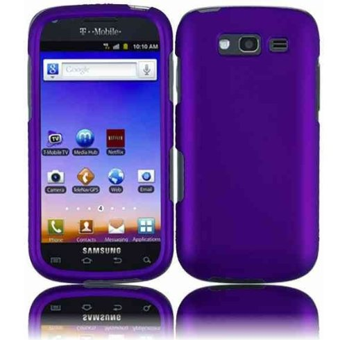 For T-mobil Samsung Galaxy S Blaze 4g T769 Accessory - Purple Hard Case Protector Cover + Lf Stylus Pen (Samsung Mobil Phones T Cell)