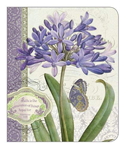 Legacy of Faith Hardcover 3-Ring Address Book, Lavender Agapanthus (ADB9095)