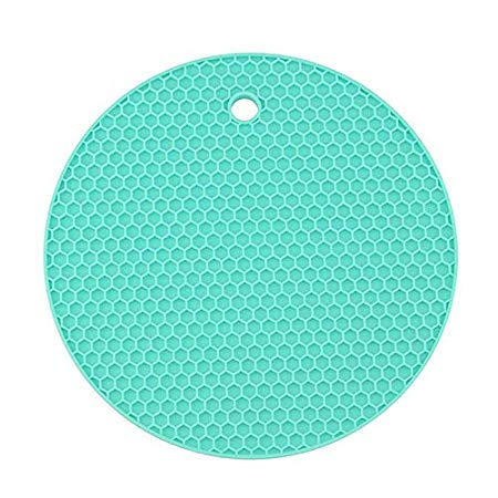 Assyrian Round Coaster Non Slip Silicone Cushion Placemat Pot Holder Pan Mat Heat Resistant Pad - Pad Kitchen