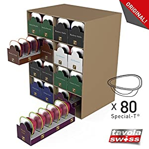 tavolaswiss t box 80 holds 80 capsules special t sturdy high quality cardboard natural. Black Bedroom Furniture Sets. Home Design Ideas