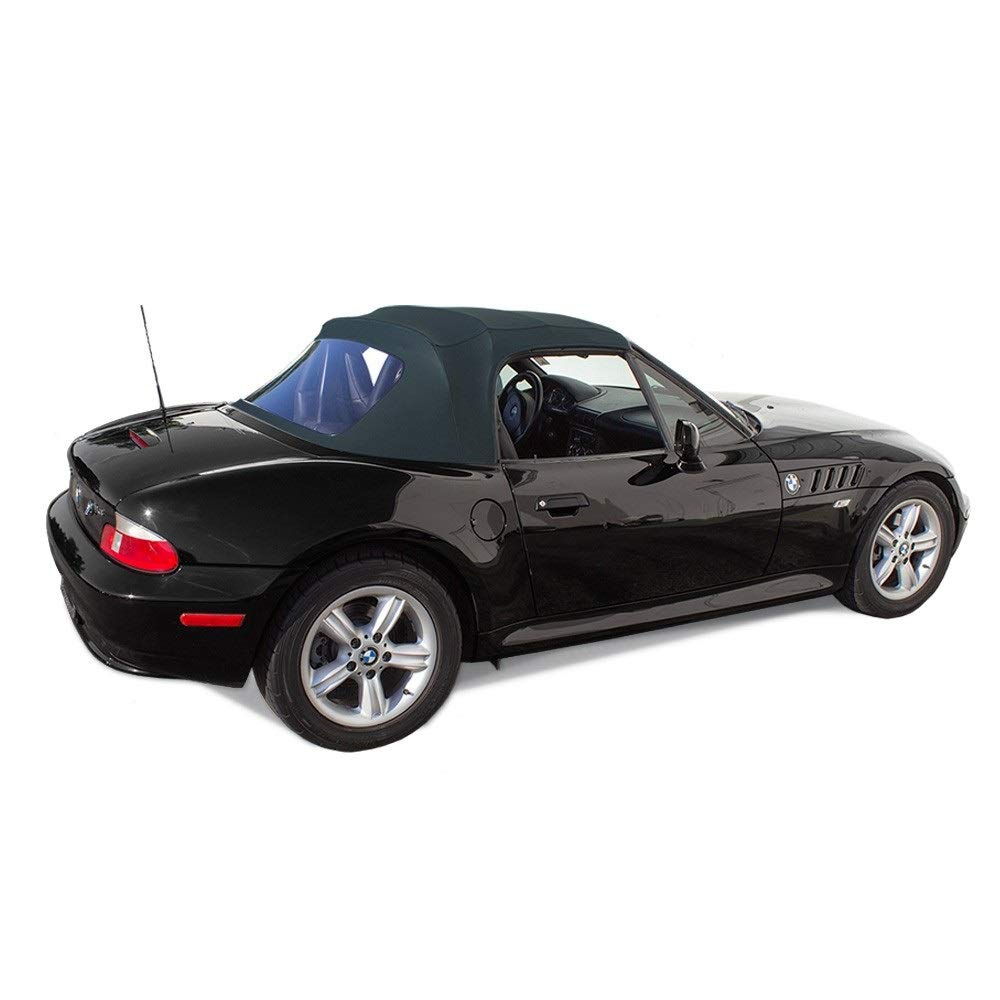 Fits BMW Z3 1996-2002 Convertible Soft Top Replacement /& Plastic Window Twill Black