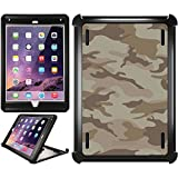 OtterBox iPad Air 2 Black Defender Series Case with Camo Green Brown Design by Coveroo