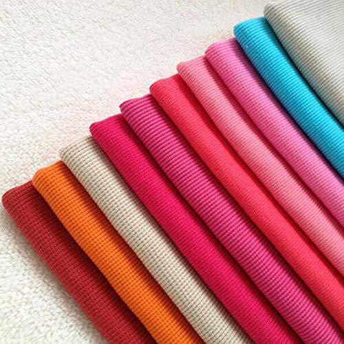 Fabric - 50x120cm Knit Jersey Cuff Waistband Welt Cuffing Rib Fabric Lycra Stretch Cotton Sportswear (5 Gray) ()