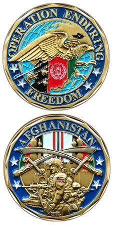 Operation Enduring Freedom Veteran Challenge Coin ()