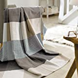 Solare Cotton Pure Patchwork Throw Blanket