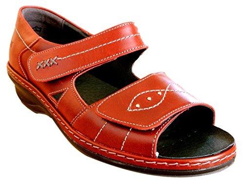 Comfort Red Red Sandal Hilda Casual Flat Suave q68TTA