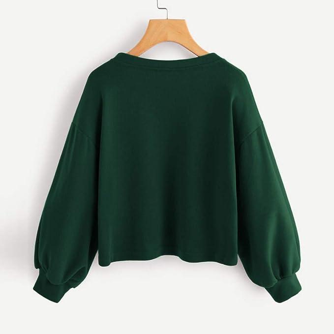 HENWERD Womens Leaf 3D Digital Printing Hoodie Sweatshirt Casual Pullover Long Sleeve