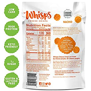 Whisps Cheese Crisps 7-Variety Pack | Parmesan, Cheddar, Asiago & Pepper Jack, Tomato Basil, Barbeque, Tangy Ranch…