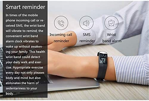 Pedometer Deporte Smartband ECG PPG Frecuencia Card/íaca Presi/ón Arterial Banda Inteligente Rastreador De Ejercicios Pulsera Inteligente Pulsera Recordatorio De Llamadas SMS para iOS Android WENNIU