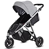Costzon Jogger Stroller, 3-Wheel Baby Travel Stroller, Reclining Seat with Adjustable Handlebar and Storage Basket