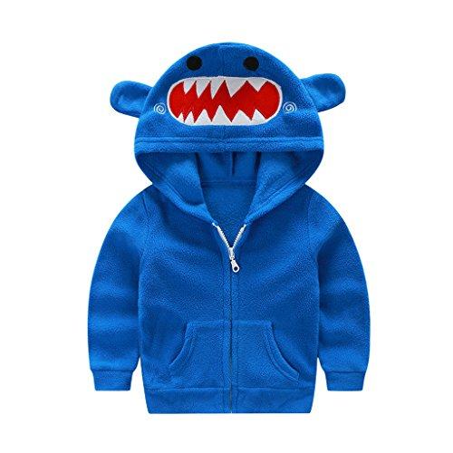 Fairylinks Adorable Cute Animal 3D Hoodie Jacket Costume Full Zip Up Baby Kids Boys Girls (Beer Fairy Costume)