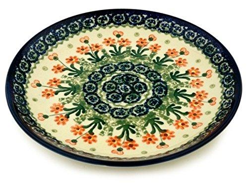 Polish Pottery Dessert Plate 8-inch Peach Spring Daisy
