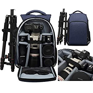 Best Epic Trends 51UP1PP%2BLNL._SS300_ MUMAIS Canada Style 2021 Made Camera Backpack Bag Compatible(Canon Sony Nikon) Waterproof Shockproof Women Men…