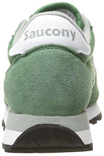 Sneaker Saucony Jazz in suede e tessuto verde e bianco Verde