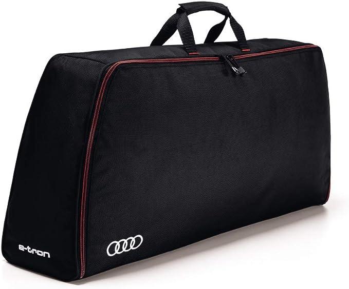 Audi 4ke071073 Aufbewahrungstasche Kofferraumtasche Ringe Logo E Tron Kabeltasche Schwarz Auto
