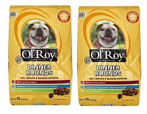 Ol' Roy Dinner Rounds Dry Dog Food, 15-Pound (Pack of - Dinner Lisa