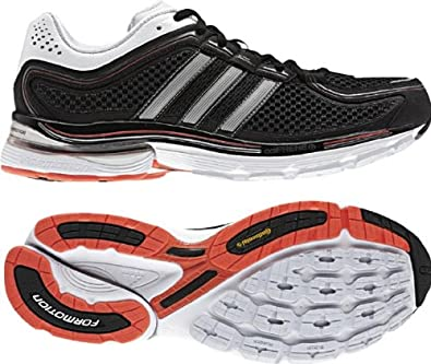 newest 99398 5e013 adidas AdiSTAR Ride 4 Mens Running Shoe Black, Silver, High Energy (14 D