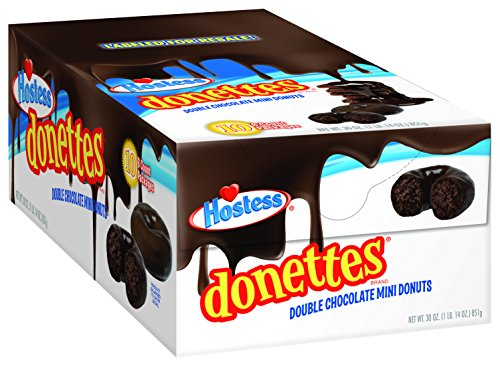 Hostess Donettes Mini Donuts, Double Chocolate, 3 Ounce, 10 Count