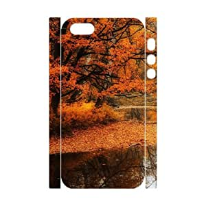 3D IPhone 5,5S Cases Red Maple Creek, - [White] Dustin