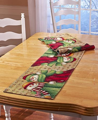 Snowman Tapestry Collection Table Runner