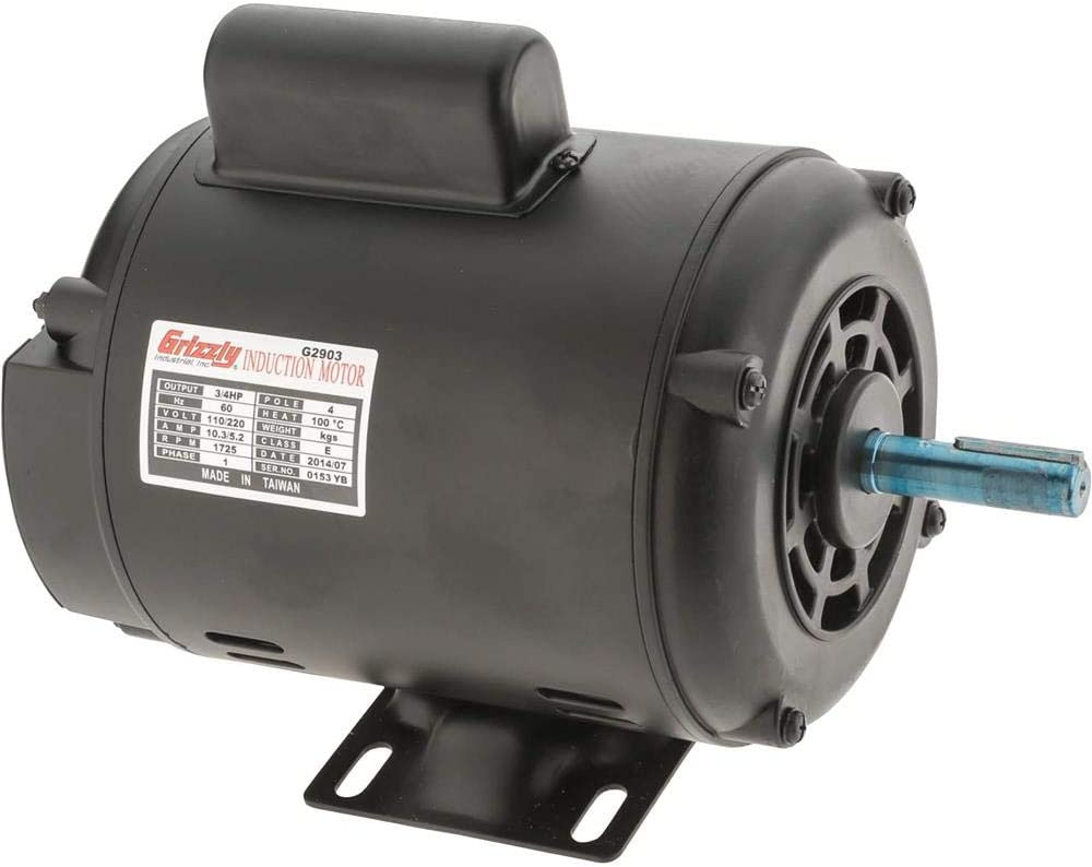Grizzly Industrial G2903 - Motor 3/4 HP Single-Phase 1725 RPM Open 110V/220V