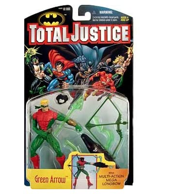Total Justice Green Arrow Action Figure: Toys & Games
