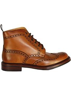 061d62e8858ea Loake 1880 Bedale Mens Lace Up Brogue Boots Tan Leather  Amazon.co ...