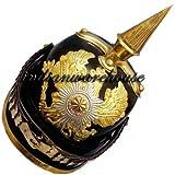 Queen Brass Leather German Helmet Ww1 Pickelhaube