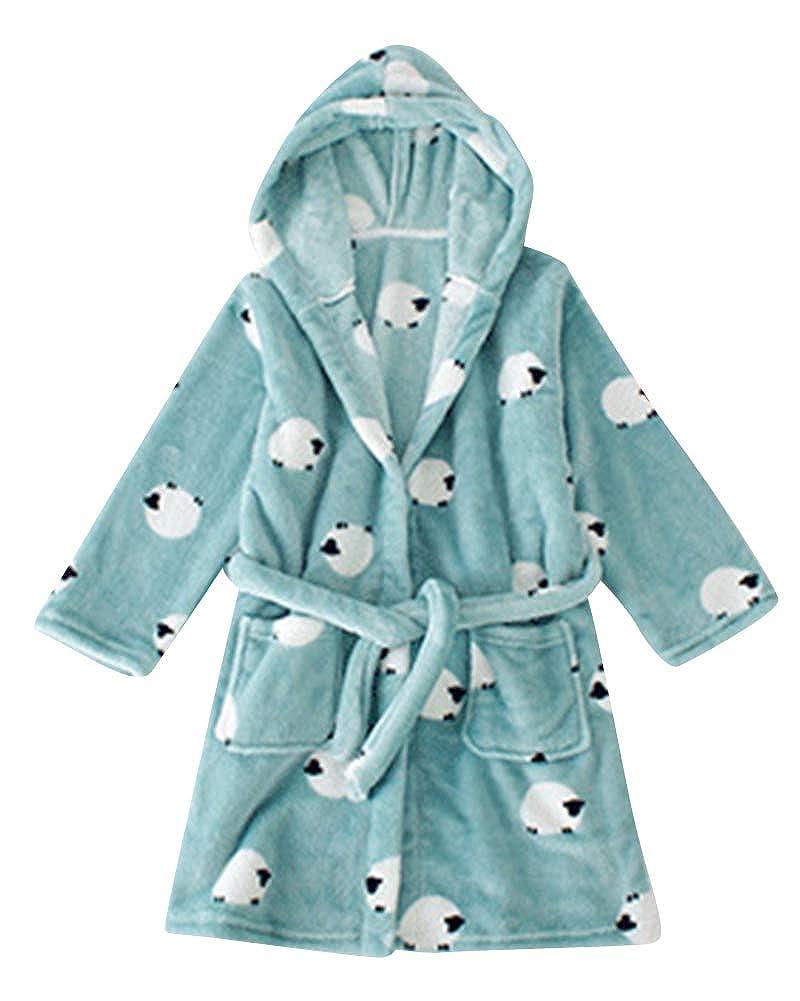 ShiFan Accappatoio Morbido Per Bambini Pigiameria Con Cappuccio Vestaglia Lussuosa Caldo Indumenti Da Notte Comodi Carino Loungewear