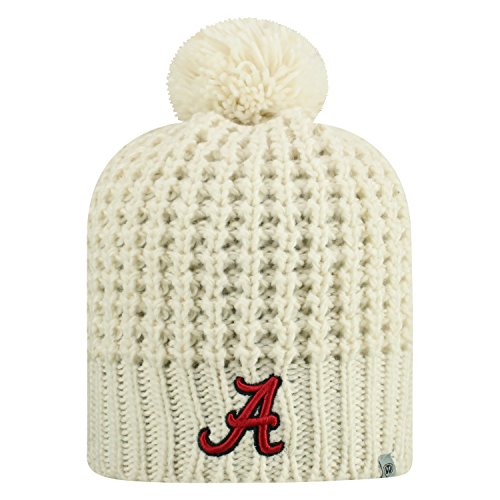 Top of the World Alabama Crimson Tide Official NCAA Uncuffed Knit Slouch 1 Beanie Hat 614007 (Alabama Beanie Hat)