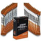 Strike Force Energy Drink Mix - Healthy Water Enhancer + Caffeine, Vitamin b12 & Potassium - Natural Tasting Flavor for Keto, Sugar Free & Vegan Diets. 10 Liquid Energy Packets - Orange Flavoring