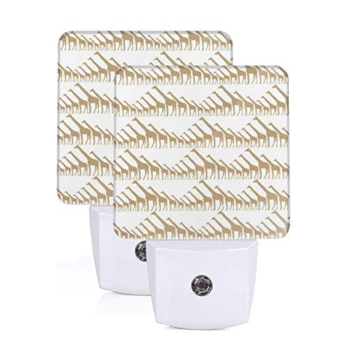- Janeither Set of 2 LED Night Lights, Giraffe Silhouette Clip Arts Wall Lights, Auto Senor Dusk to Dawn Night Light Plug in Indoor for Adults