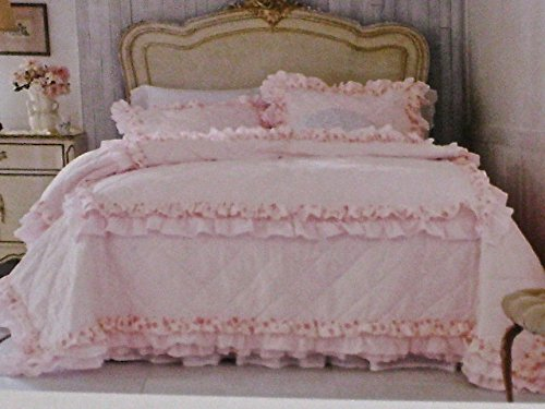 Rachel Ashwell Simply Shabby Chic KING Petticoat Faded Rose Ruffle Ruffled Quilt (Simply Shabby Chic Bedding)