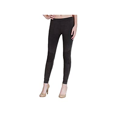 12d362825ee7aa Amazon.com: Nikibiki Thick Vintage Knee Shirring Legging NB6547 ...
