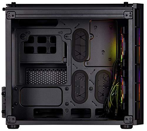Corsair Crystal 280X RGB Micro-ATX Case, 2 RGB Fans, Tempered Glass - Black