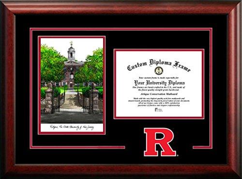 - Campus Images NJ999SG Rutgers Scarlet Knights Spirit Graduate Diploma Frame, 8.5