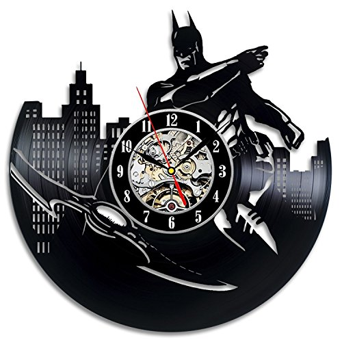Batman Art Vinyl Wall Clock Gift Room Modern Home Record Vintage Decoration - Iron Man Costume Cardboard