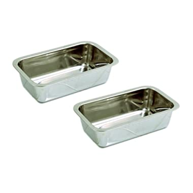 Happy Sales HSB-SSL2, Stainless Steel 8.5 Inch Loaf Pan, Set of 2