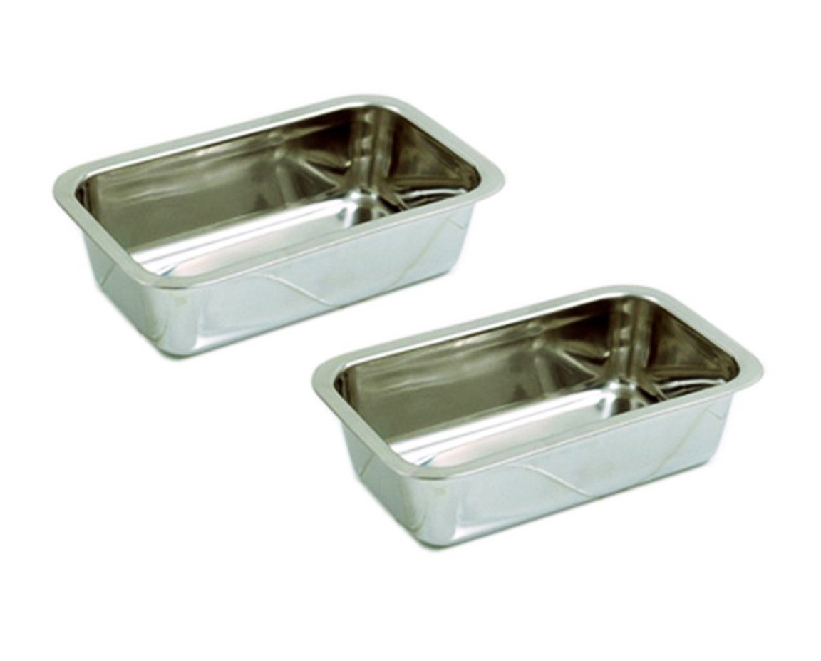 Happy Sales HSB-SSL2, Stainless Steel 8.5 Inch Loaf Pan, Set of 2 by Happy Sales