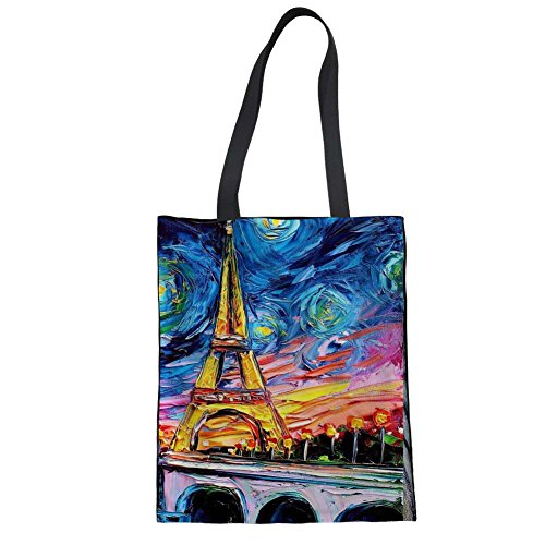Advocator Shopping Women Sac Color Print Léger 9 tout Fourre Pattern 1xf1vZqwC
