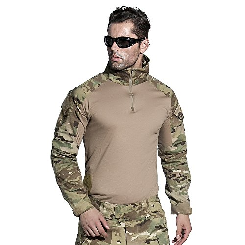 EMERSONGEAR Airsoft Shirt Tactical BDU Army Camouflage Paintball T-Shirt Medium Camo Bdu Set Pants Shirt