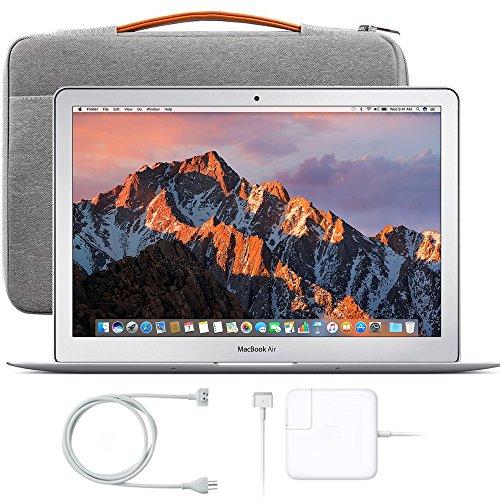 Apple 13″ MacBook Air, 1.8GHz Intel Core i5 Dual Core Processor, 8GB RAM, 128GB SSD, Mac OS, Silver, Inateck Case + MQD32LL/A (Newest Version)